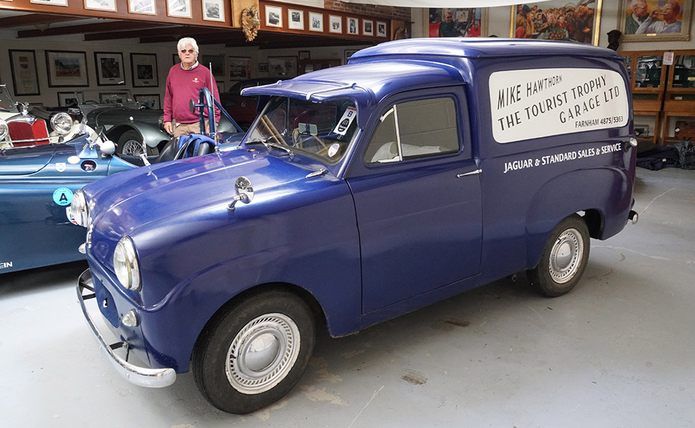 The recreated Tourist Trophy Garage van